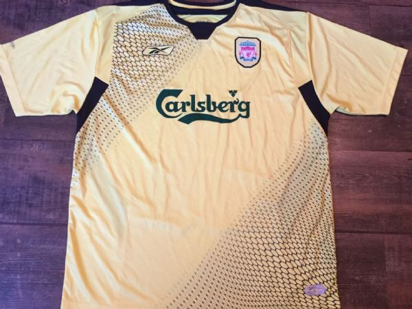 2004 2005 Liverpool Away Football Shirt Adults Large